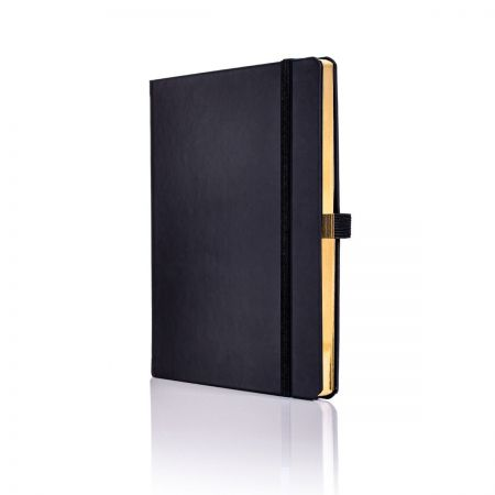 Luxury Black and Gold Notebook